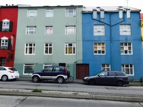 Colorful houses in downtown Reyjkavík